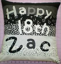 16th 18th 21st 40th 50th BIRTHDAY PERSONALISED SIGNATURE CUSHION COVER