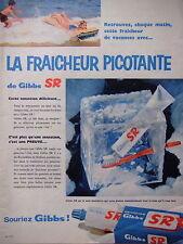 PUBLICITÉ DENTIFRICE GIBBS SR LA FRAICHEUR PICOTANTE SENSATION DÉLICIEUSE