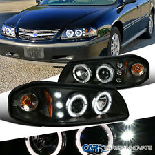 Chevy 00-05 Impala SS LS LED Halo Projector Headlights Lamp Black