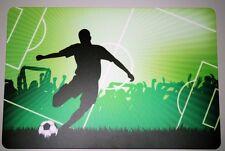 Schreibtischunterlage Fußballspieler Spielfeld 40x60cm Fußball Ball grün 2.Wahl