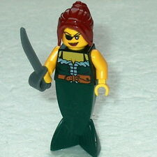 PIRATES #02 Lego Female Mermaid Pirate w/eye patch & sword NEW Merman