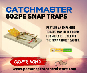 Catchmaster 602PE Snap Traps w/ Expanded Trigger  (Case of 72 Traps)