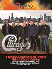 """Chicago """"Heart & Soul Tour"""" 2016 Oklahoma Concert Poster-Band By Chicago Skyline"""