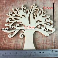 10pcs Wooden Tree Embellishments For Crafts 12.5cm Tree Blank Wooden Z0L7