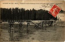 CPA Militaire, Meaux - Passerelle sautee et bateaux (278900)