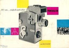 VEB Fotocamera & Cinema opere Dresda pubblicità per pentaka 8 B Dresda PROSPEKT 1961