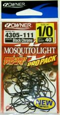NEW OWNER MOSQUITO LIGHT DROP SHOT SPECIAL HOOKS PRO PACK SIZE 1/0 THRU 4 NEW