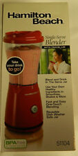 Nib Hamilton Beach Bpa Free Single Serve Blender / Travel Lid 51104 14 Oz. Red