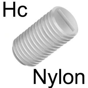 NYLON - VIS SANS TETE fendue plastique - M3 x6 (10)