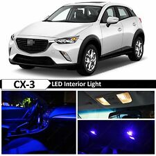 9pcs Blue Interior Map Dome LED Light Package Kit for 2016-2018 Mazda CX-3 CX3