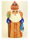"""AUTHENTIC Russian Hand Painted Carved Santa Claus Figurine Father Frost 5"""" Tree"""