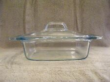 PYREX EASY GRAB 2 QT. GLASS CASSEROLE DISH WITH GREEN TINT