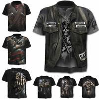 3D Skull Printed Funny T-shirts Men Casual Streetwear Short Sleeve Summer Top
