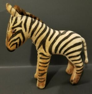 "Antique Steiff Small Zebra - 5.5"""