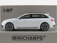 Minichamps 870 018214 Audi RS4 Avant (2018) in weißmetallic 1:87/H0 NEU/OVP
