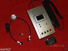GRUNDIG St3210 Stenorette DIKTIER/Wiedergabegerät mit Handmikrofon+Kophörer,TOP