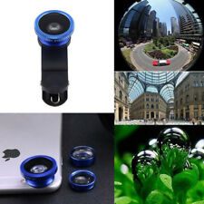 For iPhone 6s 5s/5 HTC Samsung Fish Eye Wide Angle Macro 3in1 Camera Clip Lens