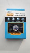 ZALMAN ZM-F1 PLUS (SF) NEW 80mm Silent Case FAN Silicone pin 2000RPM