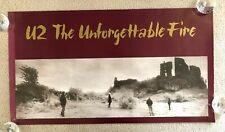 """*U2 - Unforgettable Fire Promo Poster   20""""x36 """"  Island   Bono Edge Larry Adam*"""