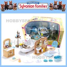 NEW SYLVANIAN FAMILIES COUNTRY BATHROOM SET 5034 DOLLHOUSE BATHTUB SHOWER etc