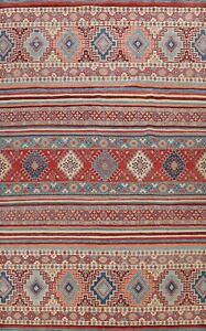 Vegetable Dye Tribal Super Kazak Oriental Area Rug Hand-knotted Dining Room 9x12