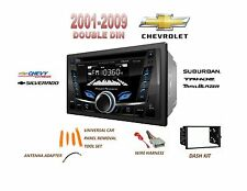 CHEVROLET SILVERADO TAHOE USB AUX Bluetooth Radio Stereo Double Din Dash Kit