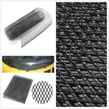 Rhombus Style Grille Black Aluminium Car Front Bumper Grille Net Mesh 12mm* 6mm