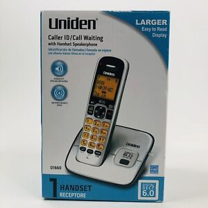 Uniden Cordless Phone D1660 1.9 GHz Single Line Caller ID Handset Speakerphone