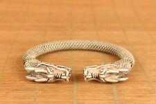 Asian tibetan old tibet copper hand carving dragon bracelet noble gift