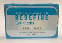 Rodan and Fields REDEFINE Eye Cloths, New Sealed Box 30 Cloths FRESH
