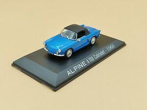 1/43 Alpine Renault A108 Cabriolet Bleu 1960 Norev M6 Interactions