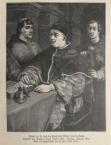 Leo X. - Papa Leo X - Giovanni de' Medici - Giulio de' Medici - Clemens VII.
