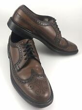 Mens WEYENBERG Brown Leather Wingtip Brogue Derby Dress Casual Laces Sz.9.5 B-12