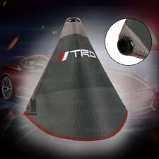 TRD shift knob Shifter Boot Cover MT/AT w/ Red Stitches Racing Fabric Grey Mix