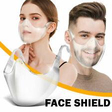 Clear Plastic Face Mask Cover 3D Durable Shield Reusable Transparent Bracket USA
