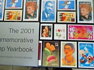 "2001 ""Commemorative year book"" NO stamps Below original price"