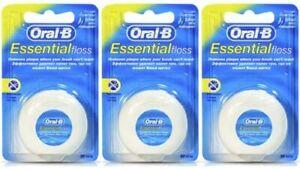 Oral-B Essential Regular Dental Floss Unwaxed 50m Pack of 3