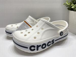 NEW Crocs Bayaband Unisex Clogs Sandals White 205089 Size 7-13