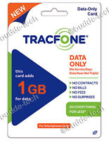 TracFone 1GB DATA ONLY for Smartphones & BYOP Android Airtime Number Top-Up