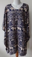 LADIES KAFTAN PONCHO TOP BEACH COVER UP plus size 18 , 20 , 22 , 24 , 26 NEW $30
