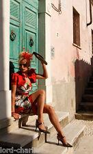Linea Raffaelli outfit dress suit 44 16 18 red coral bolero Jacket light weight