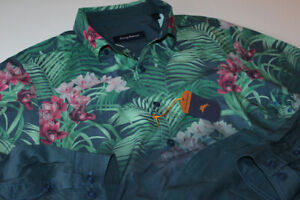 Tommy Bahama Shirt Orchid Oasis Bering Blue T315754 New LS Large L