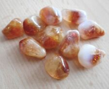 Citrine Tumblestones 10 Madeira Citrine Quartz 15mm Earthy and Vibrant