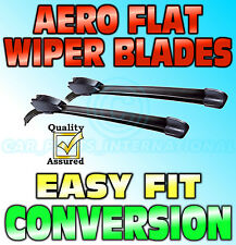 "Aero Flat Wiper Blades Pair Hook Fitting Modern Flat Design 21""-19"""