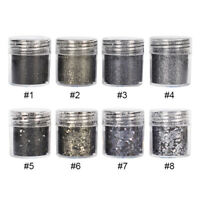 Nail Sequins Black Series Mixed Sizes Paillette 3D Nail DIY Decoration in Box