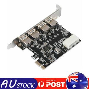 4Port PCI-E To USB 3.0 HUB PCI Expansion Card Adapter