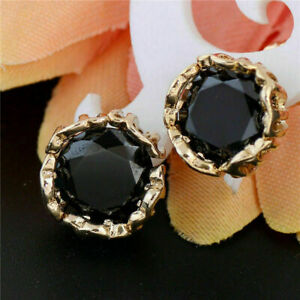 Delicated 4.00Ct Round Black Diamond Solitaire Stud Earring 14K Rose Gold FN