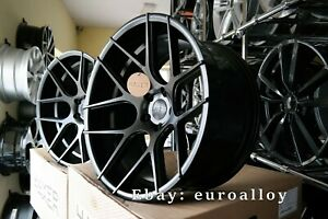 New 20 inch 5x120 HAXER HX 022 rims BMW E60 E63 CONCAVE Wheels Black BBS Vossen