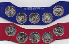 2012 P & D America The Beautiful Parks Quarter Set 10-Coins In US Mint Cello BU