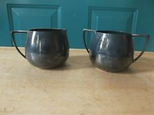 Vintage Empire Crafts Quadruple Plate Creamer and Sugar Bowl